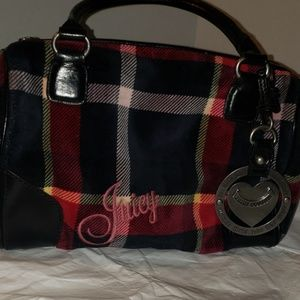 Juicy Couture Plaid velvet bag